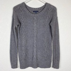 American Eagle Beaded Cableknit Long Tunic Sweater